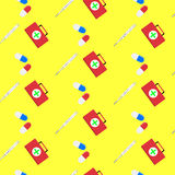 Hospital seamless pattern. Treatment and assistance, healthy service. Vector illustration Stock Photography