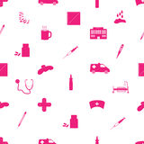 Hospital and sick icon pattern eps10. Hospital and sick icon pattern pink eps10 Vector Illustration
