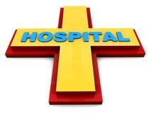 Hospital sign Royalty Free Stock Photos