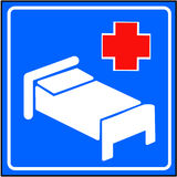 Hospital sign. With bule background Royalty Free Stock Image