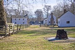 Hospital and Slave Quarters. This shows slave hospital and living quarter typical of the mid 1800`s in the Southern United States Royalty Free Stock Photos
