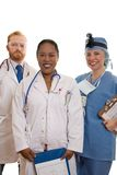 Hospital Staff. Three medical or hospital staff Royalty Free Stock Photography