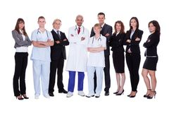 Hospital staff group Stock Images