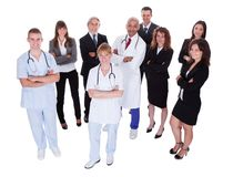 Hospital staff group Royalty Free Stock Images