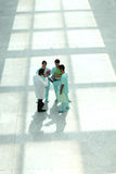 Hospital staff in hallway Stock Photography