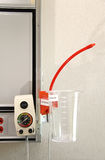 Hospital Suction Unit. A suction unit for chest tubes in a hospital room stock photography