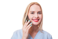 Hospital support assistance woman Stock Photos