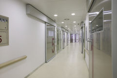 Hospital surgery area with white walls. stock photos