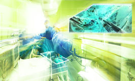 Hospital surgery colors team operation monitor Stock Photos
