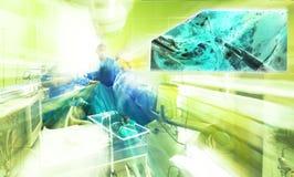 Hospital surgery colors team operation monitor stock photos