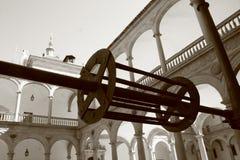 Water well - water wheel mechanism. Stock Photos