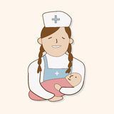 Hospital theme nurse and baby elements vector,eps Stock Photography