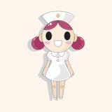 Hospital theme nurse elements vector,eps Stock Image