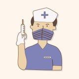 Hospital theme nurse elements vector,eps Stock Images