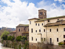 Hospital on Tiber Island in Rome Italy. The hospital, founded in 1584, was built on Tiber Island and is still operating. It is staffed by the Hospitaller Order Stock Photos