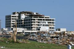 Hospital After Tornado Stock Images