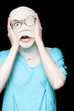 Hospital Trauma Patient Screaming In Terror Royalty Free Stock Photo
