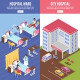 Hospital Vertical Banners Set Stock Image
