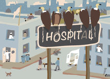 Hospital vultures Stock Image