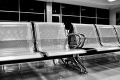 Hospital waiting room with empty chairs Royalty Free Stock Photography