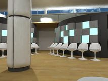 Hospital waiting room, green light cubes Royalty Free Stock Photography