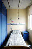 Hospital ward. A single bed by the window in a hospital ward Royalty Free Stock Images