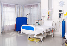 Hospital ward. Clean hospital ward room interior Royalty Free Stock Photos