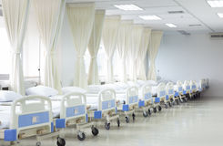 Hospital ward with beds and medical equipment Royalty Free Stock Photography