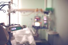 Hospital ward with equipment. blurred background royalty free stock photos
