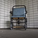Hospital wheelchair. Wheelchair in St Thomas's Hospital Stock Photography