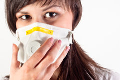 Hospital worker wearing protective mask Stock Photos