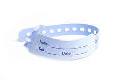 Hospital wrist tag Stock Image