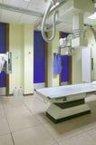 Hospital x-ray room interior with equipment Stock Photos