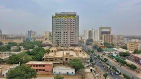 Hospital y IBA Karachi intermediarios Imágenes de archivo libres de regalías