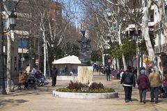 Rambla Just Oliveras, in Hospitalet, Spain Stock Images