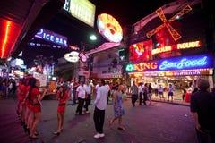 Hospitalidad en la noche Pattaya Imagenes de archivo
