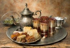 Hospitalidad marroquí imagen de archivo