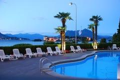 Hospitalidade por Lago Maggiore, Italy foto de stock royalty free