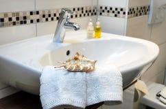 Hospitalité dans la salle de bains Photos libres de droits