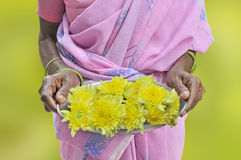 Hospitality. Welcome with flowers in the south of India Stock Image