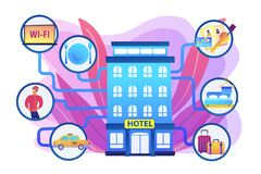 Free Hospitality Management Concept Vector Illustration Royalty Free Stock Photos - 157587858
