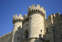 Hospitaller's Castle on Greek Island of Rhodes Royalty Free Stock Photo