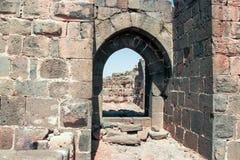 Hospitallers - Belvoir -约旦星的12世纪堡垒的废墟-在阿富拉镇附近的约旦星国家公园 库存图片