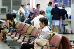 Hospitals in Thailand. Bangkok, Thailand on October 12, 2015 to receive services at public hospitals Bangpakok 1 a lot because the weather is not so good.October Royalty Free Stock Photography