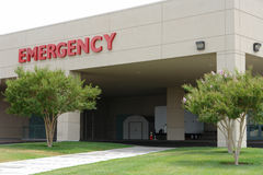 Hosptal emergency entrance sign Royalty Free Stock Images