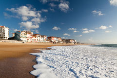 Hossegor Breakers. A large white water wave sliding on the Hossegor beach - France stock image