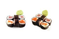 Hossomaki Sushi Composition Royalty Free Stock Photo