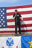 Host of 2nd Amendment rally. Stock Photography