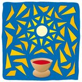 Host and chalice. Religious symbols Royalty Free Stock Image