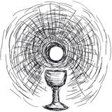 Host and chalice. Vector illustration of host and chalice Royalty Free Stock Images